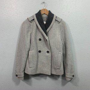 J Crew Gray Stadium Cloth Wool Coat Womens Size 6